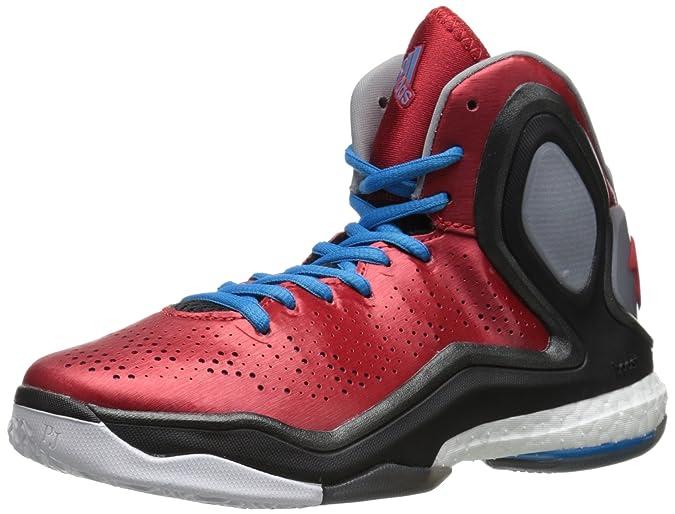 debb195009fa adidas Performance D Rose 5 Boost J Kids Basketball Shoe Big Kid  Scarlet Solar Blue 4 M US Big Kid  Amazon.in  Shoes   Handbags