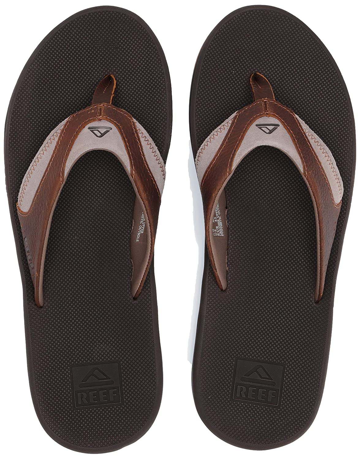Reef Leather Fanning, Chanclas para Hombre, Marrón (Bro/Brown 4 Br4), 43 EU