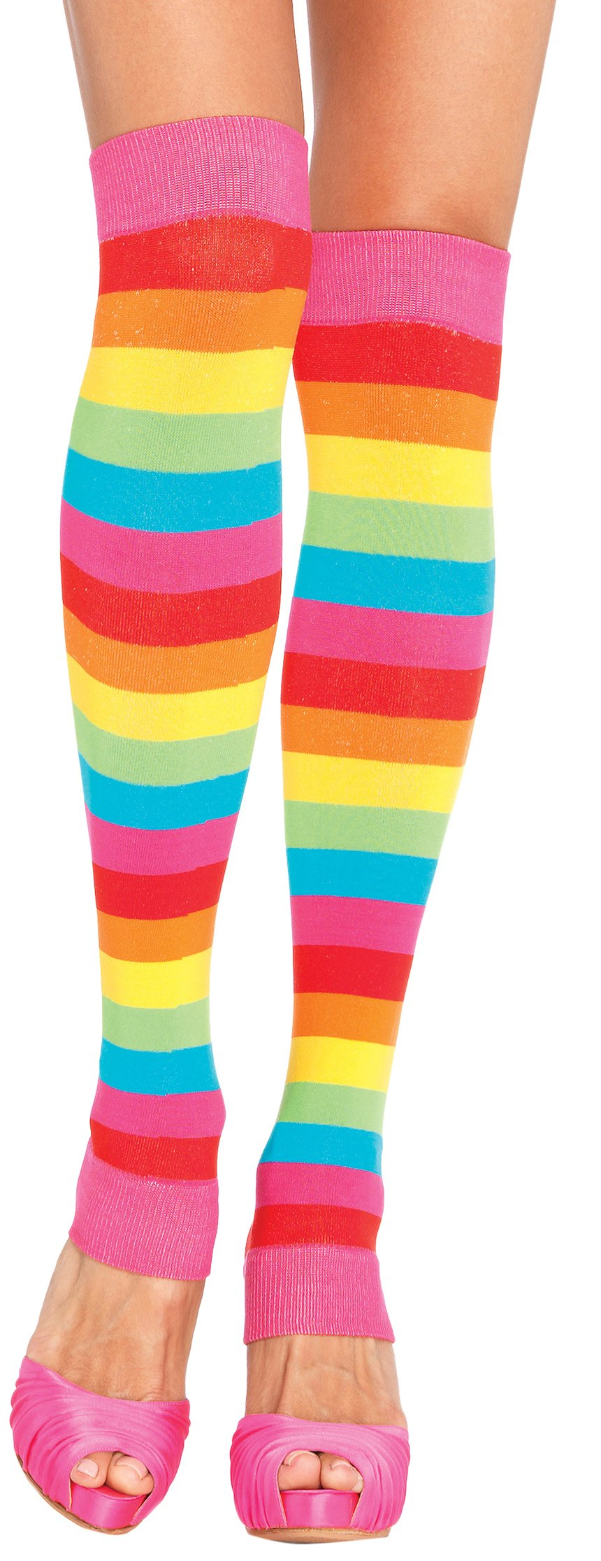 ToBeInStyle Women's Rainbow Striped Leg Warmers - Multicolor - One Size