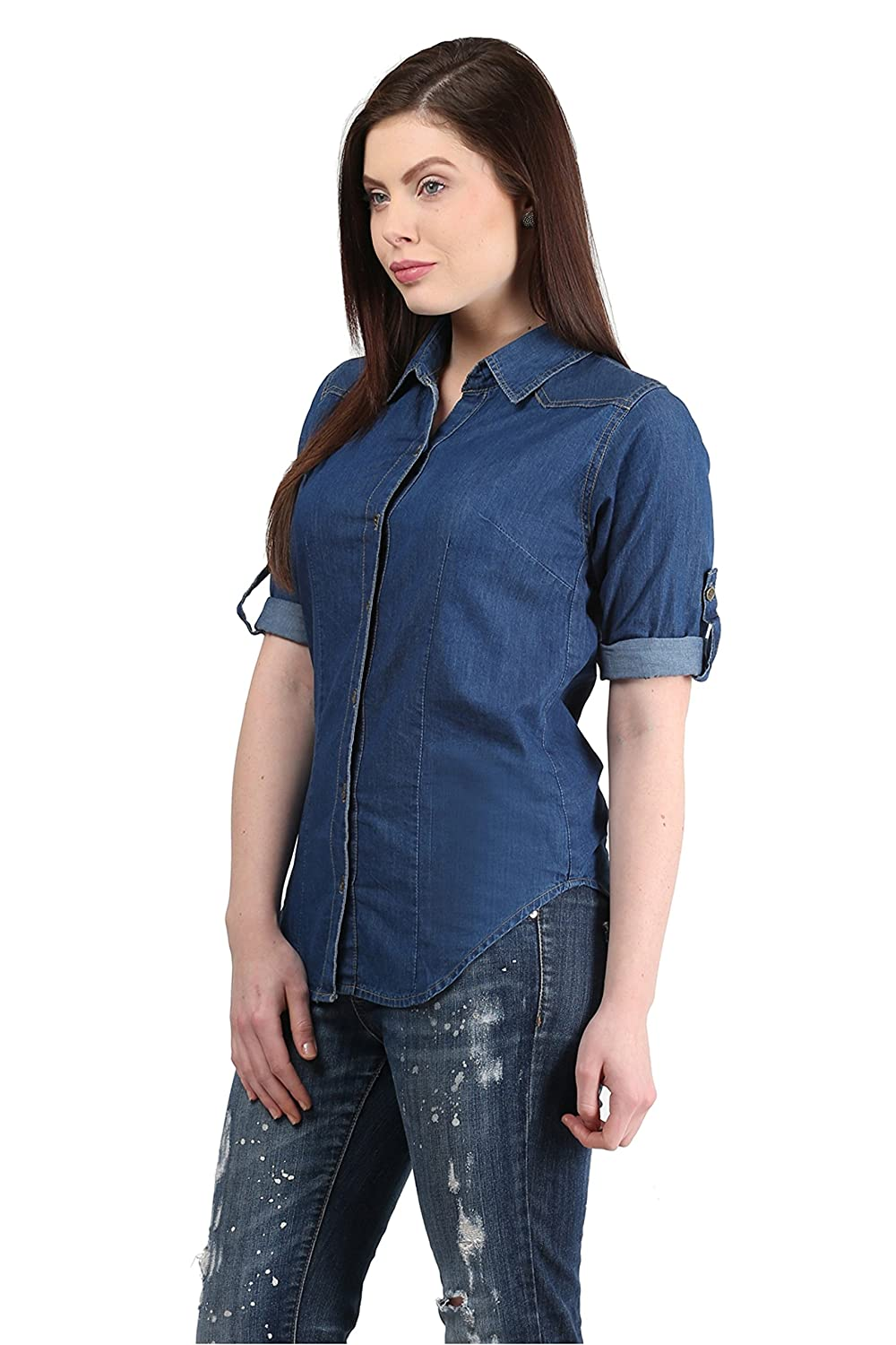 8fa644aea2be Mayra Women's Party Wear Shirt: Amazon.in: Clothing & Accessories