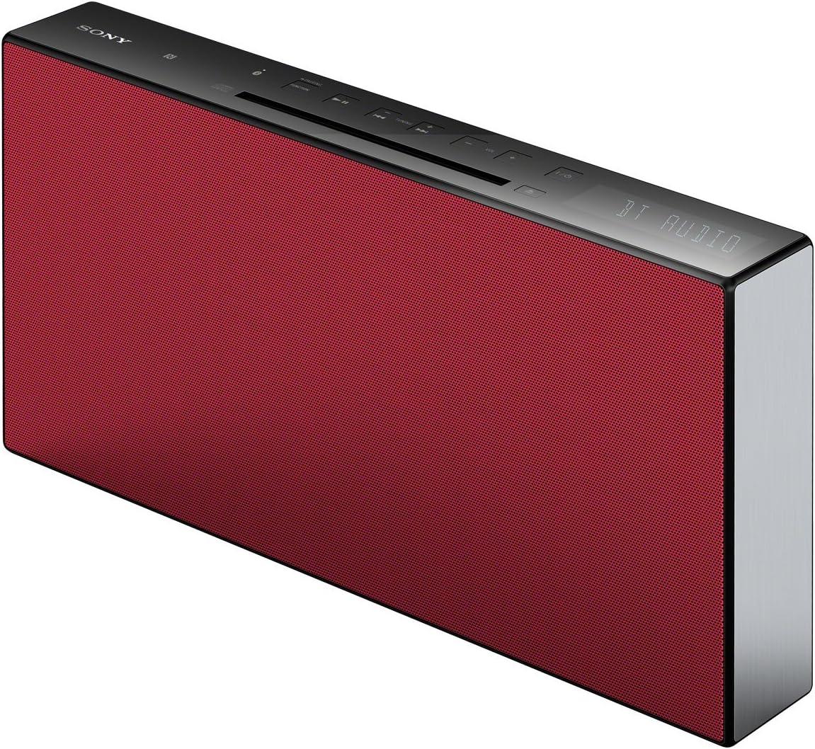 Sony CMT-X3CD - Sistema HiFi compacto de 20W con Bluetooth y NFC, color rojo