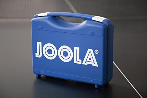 JOOLA Tour Carrying Case – Ping Pong Paddle Case with 18 40mm 3 Star Competition Ping Pong Balls and Space for Storing 2 Standard Table Tennis Rackets – Durable High Density Case with EVA Foam Lining