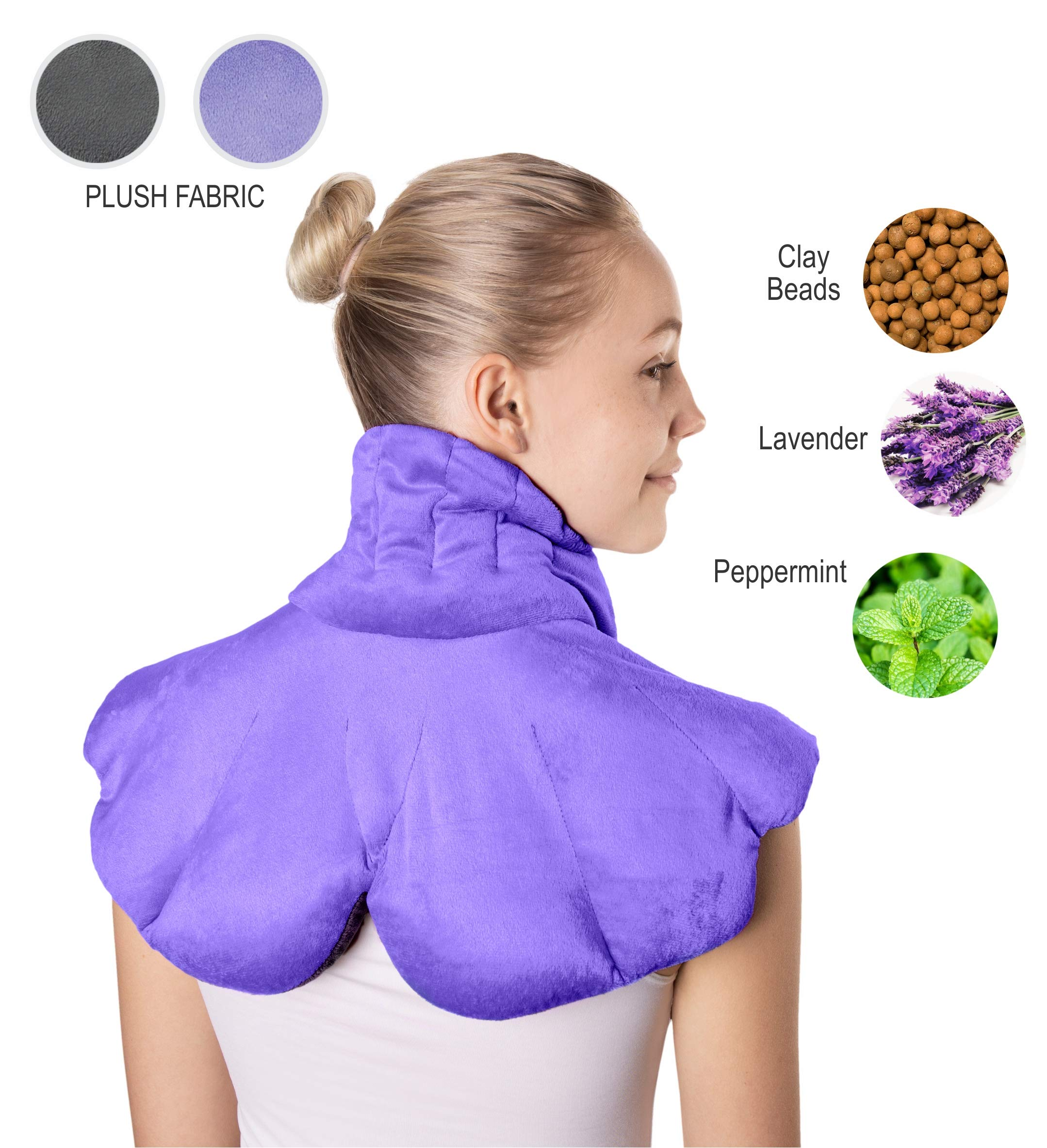 MK Double Sided Deluxe Microwavable Heating Pad for Neck and Shoulders | Shoulder Heating Pad | Neck Heating Pad | Microwavable Heating pad | Heated Neck Wrap | Neck Wrap Microwavable | Heating pad by Merchants Key