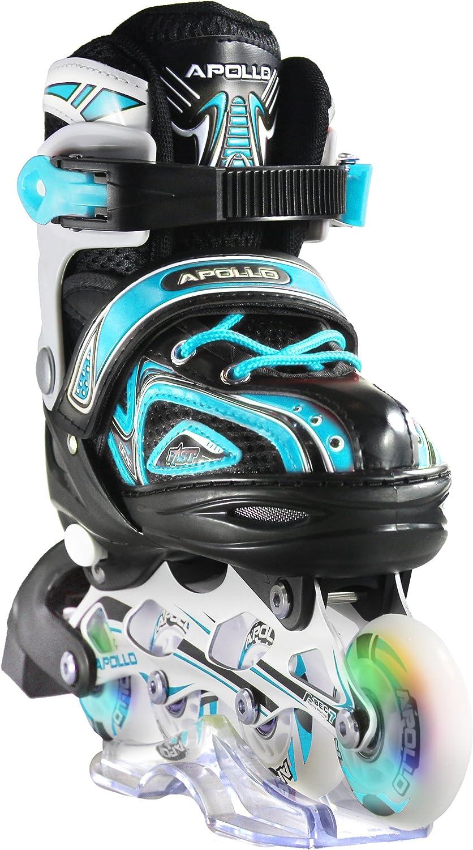 Apollo Super Blades X Pro, tamaño S,M,L, Inline Skates con Ruedas Luminosas LED
