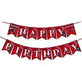 Spider-Man Happy Birthday Banner,Superhero Theme Birthday Banner for Fans Who Like Superheroes Party Decorations.