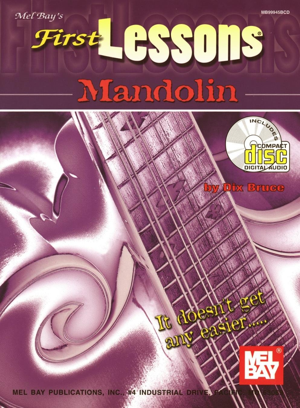 MelBay 244712 First Lessons Mandolin Book Printed Music