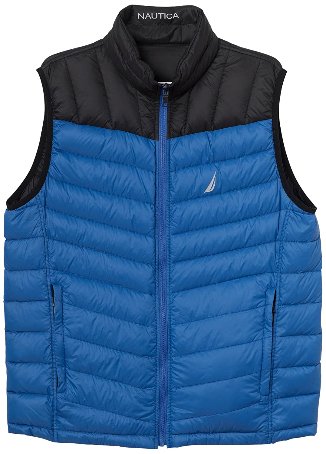 Nautica Men's Nylon Down Filled Colorblock Reversible Vest J73600