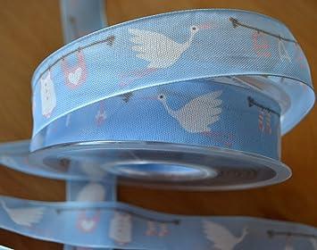 Organzaband Satinkante 12 mm x20 m hellblau Schleifenband Geschenkband Dekoband