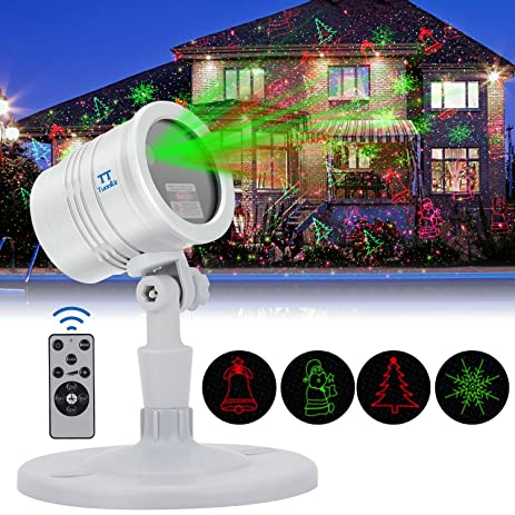Christmas Laser Lights Projector Outdoor, Red U0026 Green Laser Color With RF  Remote Auto Timer