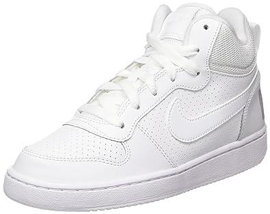 sports shoes b30e8 c8376 Nike Court Borough Mid (GS), Baskets garçon, Blanc White, 36 EU