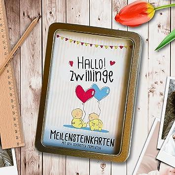 Hallo Zwillinge 31 Meilensteinkarten Von Der Geburt Bis Zum