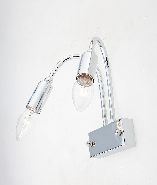 LAMPADA PARETE APPLIQUE DESIGN MODERNO ILLUMINAZIONE INTERNI BAGNO SPECCHIO diamantlux