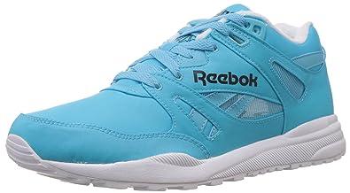 Reebok Classics Men's Ventilator Dg Neon Blue,White and Black Nylon Running  Shoes - 7