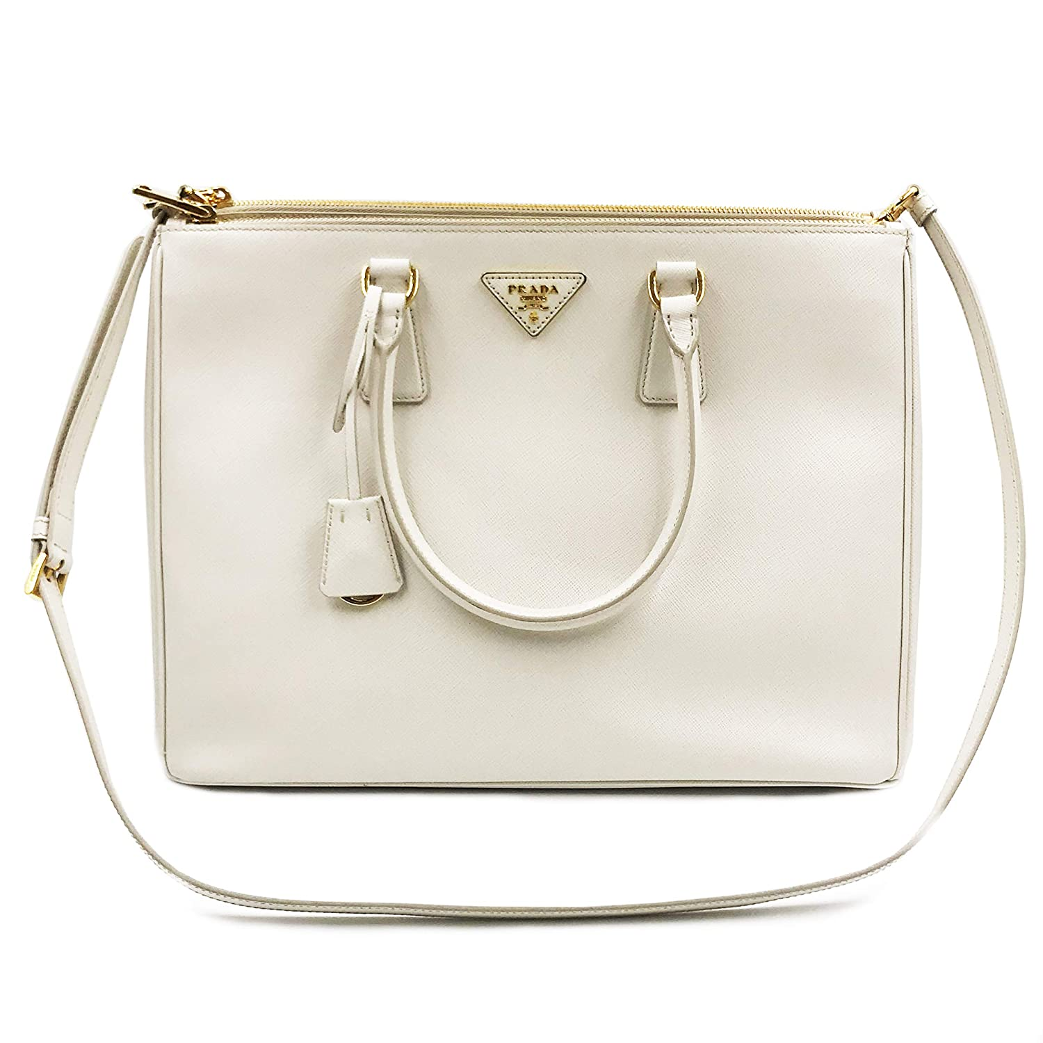 7ab1d144d3f444 ... italy prada saffiano lux galleria white leather ladies tote 1ba786nzv  at amazon womens clothing store 983cd