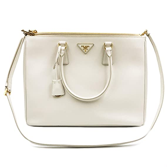 1ff7fcd0648d PRADA Saffiano Lux Galleria White Leather Ladies Tote 1BA786NZV  Amazon.co.uk   Clothing