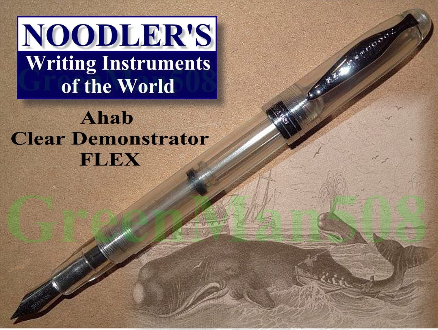 Luxury Brands Noodlers Ahab Fountain Pen Demo