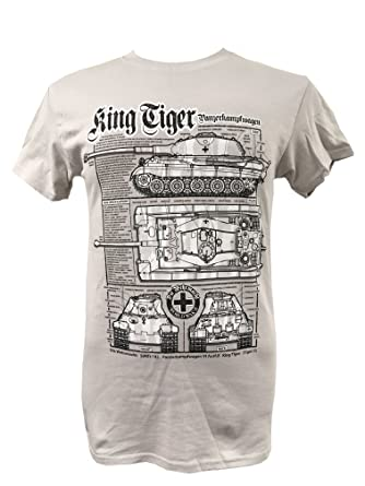The wooden model company ltd king tiger tankmilitary t shirt with king tiger tank military t shirt with blueprint design small malvernweather Choice Image