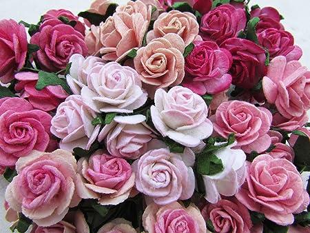 60 pcs rose 20mm pink mulberry paper flowers handmade craft project 60 pcs rose 20mm pink mulberry paper flowers handmade craft project cardmaking floral valentine mightylinksfo