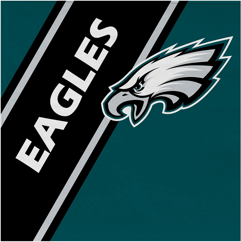 NFL Philadelphia Eagles Disposable Paper Napkins, Pack of 20
