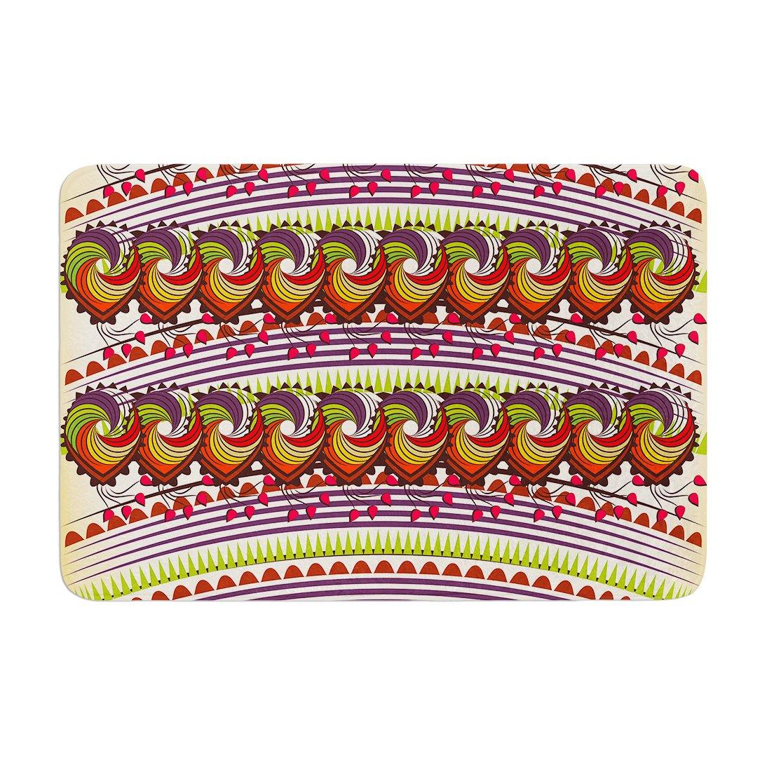 17 by 24 Kess InHouse Famenxt Colorful Traditional Pattern Multicolor Digital Memory Foam/Bath Mat