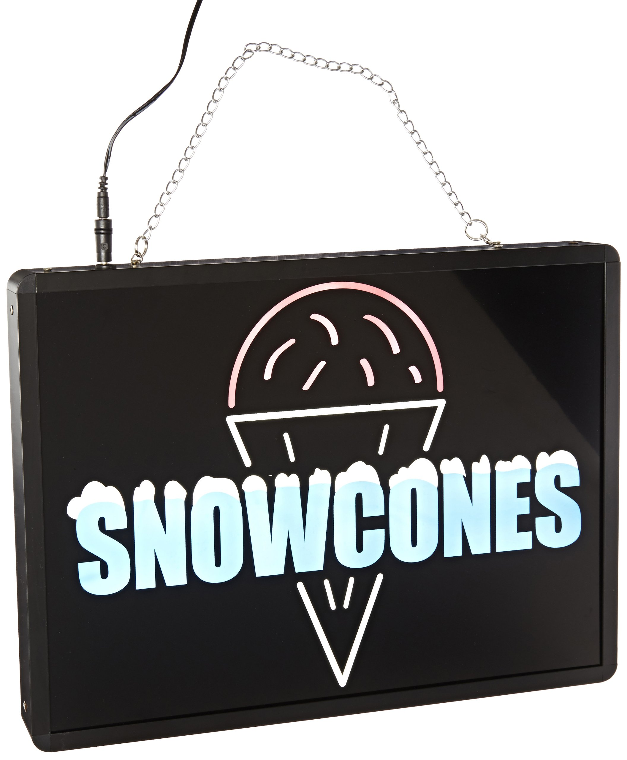 Benchmark 92003 Ultra-Bright Sign, Snow Cones, 17'' Length x 13'' Width x 1-1/4'' Height