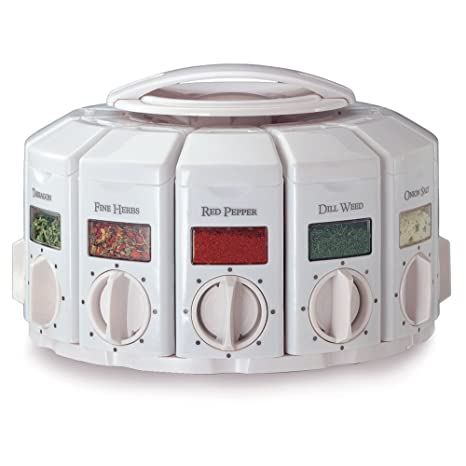 KitchenArt 25000 Select A Spice Auto Measure Carousel Professional Series,  White