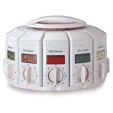 Kitchen Art 25000 Select-A-Spice Auto-Measure Carousel Professional Series, White