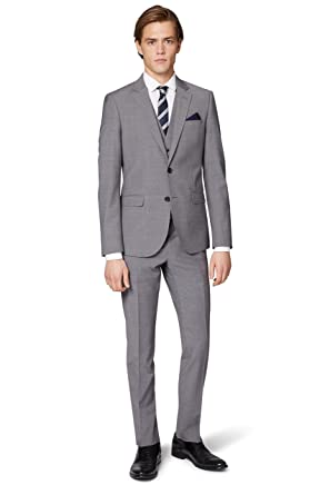 a6c127af514 Image Unavailable. Image not available for. Colour  Moss London Men s Performance  Skinny Fit Light Grey ...