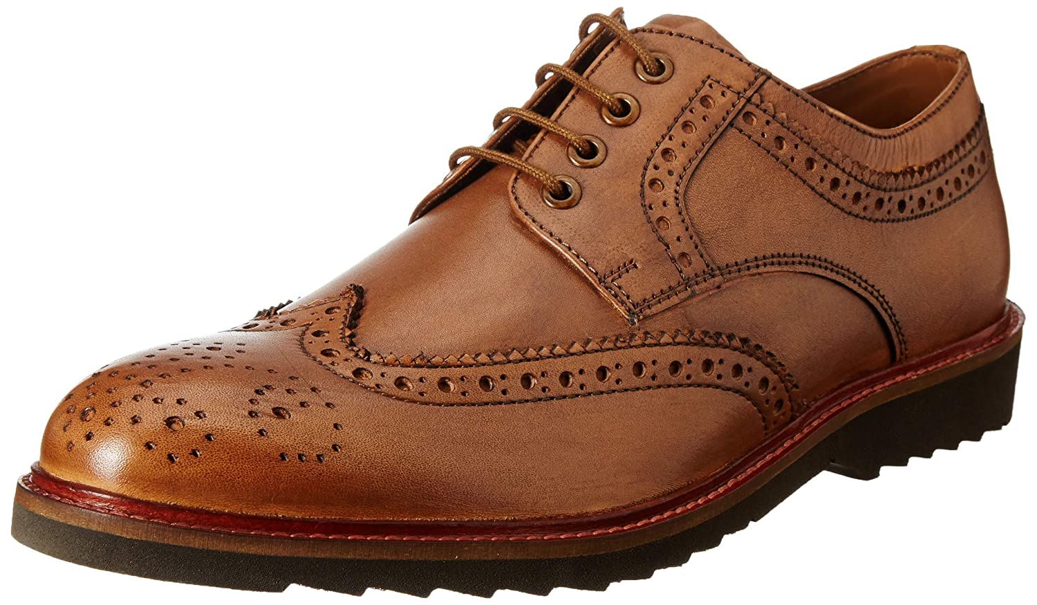 Van Heusen Men s Brown Leather Formal Shoes-9 UK India (43 EU)  (VHSS517A00049)  Buy Online at Low Prices in India - Amazon.in 98f2efca5