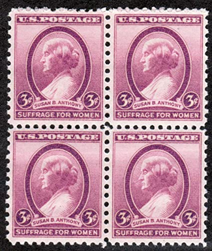 1936 Susan B Anthony Scott 784 4 X 3 U S Postage Stamps