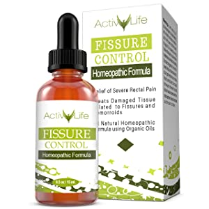 Anal Fissure and Hemorrhoid Control - Organic Formula for Rapid Relief of Swollen, Itching, or Bleeding Rectal Tissue