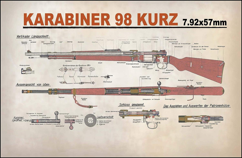 Replica, in lingua tedesca Targa carabina 98/K