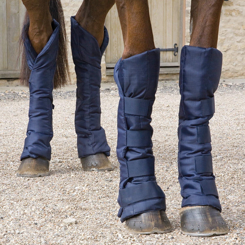Protecciones de viaje para patas de caballo, azul marino