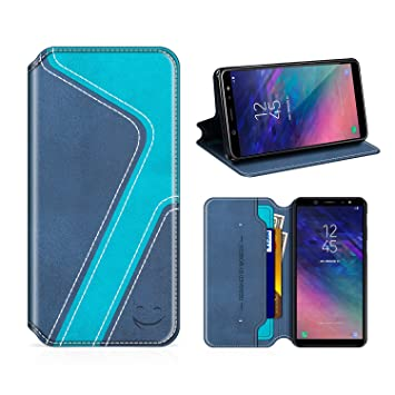 Handyhülle im Brieftasche-Stil für Samsung Ga Spieldosen Grandoin Galaxy A6 2018 Hülle