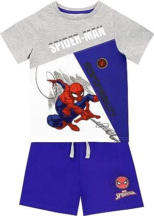 Marvel Camiseta Conjunto de Top y Shorts para niños Spiderman