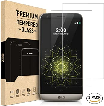 LG G5 / LG G5 SE Screen Protector [3 Pack], BEZ® Premium Tempered ...