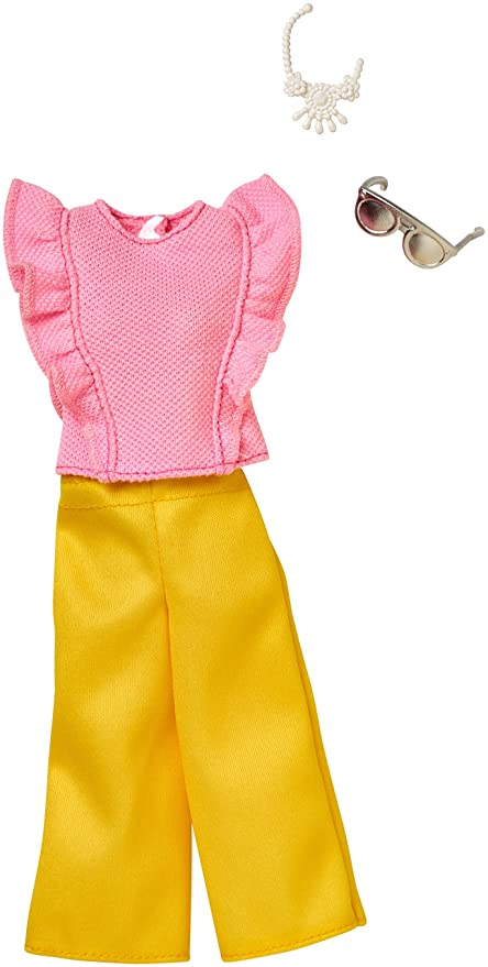 Yellow ~ Fashion Doll Clothes 3 pair Barbie Leggings ~ Neon ~ Orange Pink