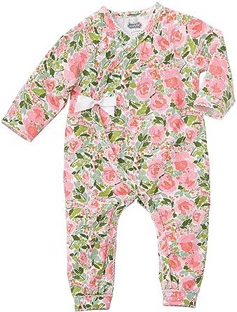 344a89f57 Amazon.com: Mud Pie Baby Girls Floral Kimono One Piece Playwear: Clothing