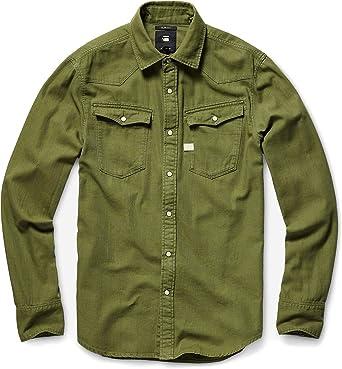G-Star de los Hombres Camisa 3301, Verde, XL: Amazon.es: Ropa y accesorios