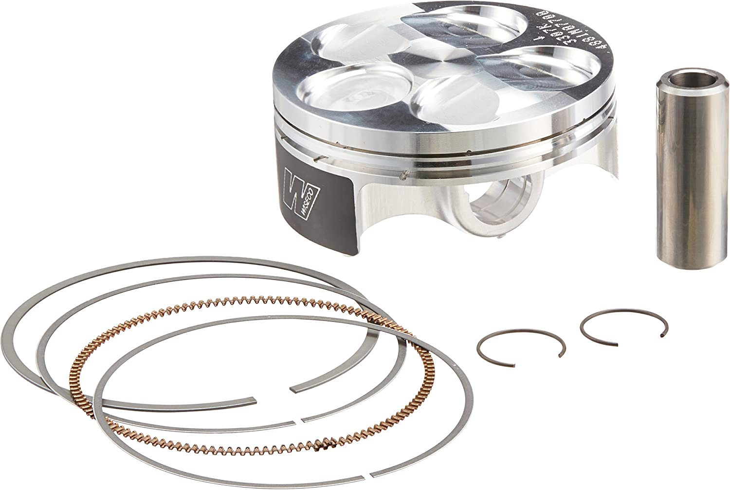 Wiseco 4881M07700 77.00mm 13.5:1 Compression 250cc Motorcycle Piston Kit