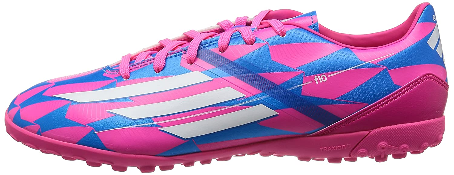 F10 TRX TF Football Trainers Neon PinkRunning WhiteSolar Blue  Amazoncouk Shoes  Bags