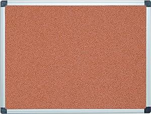 MasterVision Bulletin Board Maya, Cork Board, Pin Board with Aluminum Frame, 36 x 48 in.