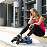 Cardiff Skate Co. Adult Cruiser Skates, Large, Blue