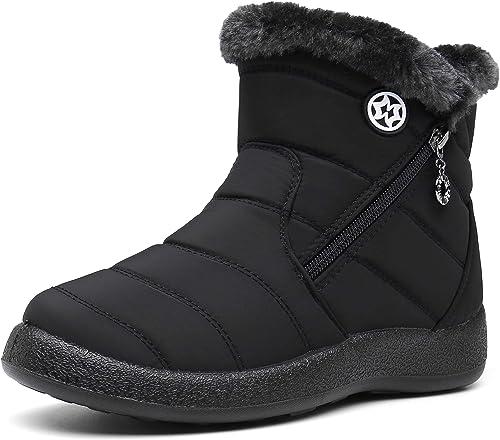 Damen Stiefeletten Winter Boots Warm Gefütterte Wasserdicht Schuhe Schneestiefel