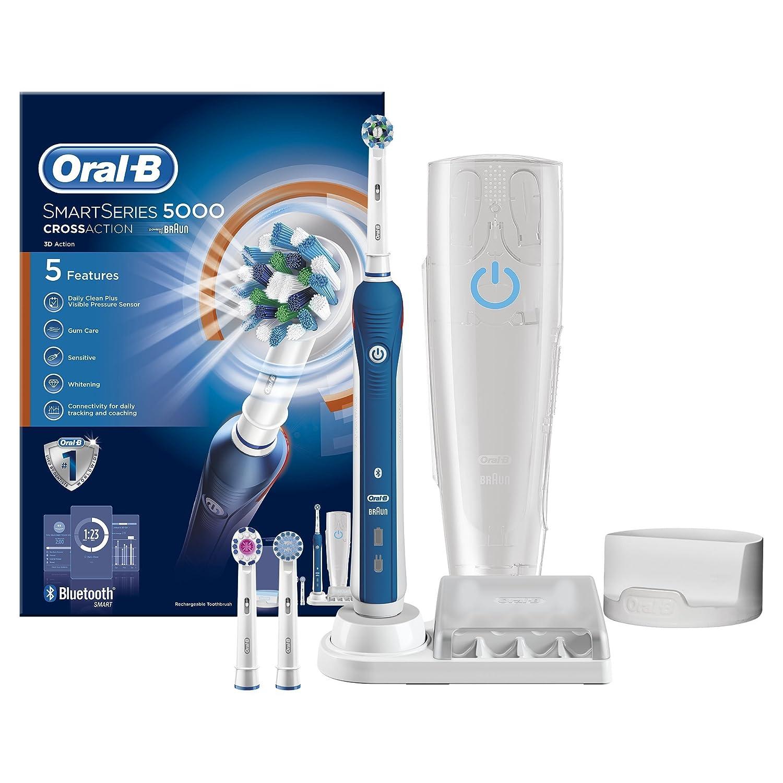 Oral-B SmartSeries 5000 Braun - Cepillo eléctrico recargable con 1 mango, 3 cabezales de repuesto, 1 funda de viaje: Amazon.es: Salud y cuidado personal