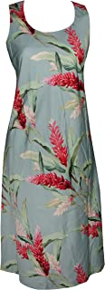 product image for Paradise Found Womens Red Ginger Short Tank Dress Aqua Blue S