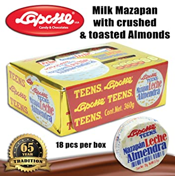 Marzipan with almonds (4 X 18PC BOXES)