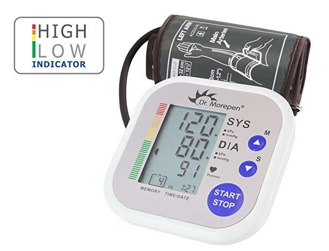 Dr  Morepen Bp02 Automatic Blood Pressure Monitor (White)