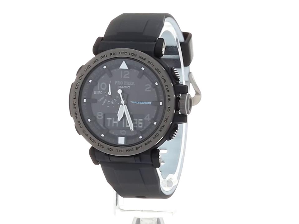 Casio-Mens-PRO-TREK-Solar-Powered-Silicone-Watch-ColorBlack-Model-PRG-650Y-1CR
