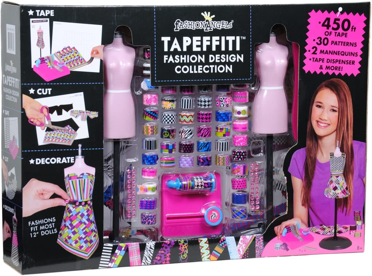 Amazon Com Fashion Angels Tapeffiti Fashion Design Collection With 30 Fabulous Fashions Toys Games